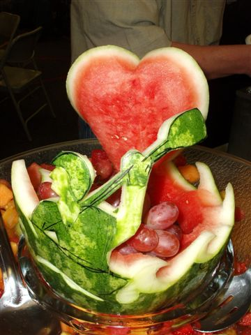 watermelon sculpture from service
