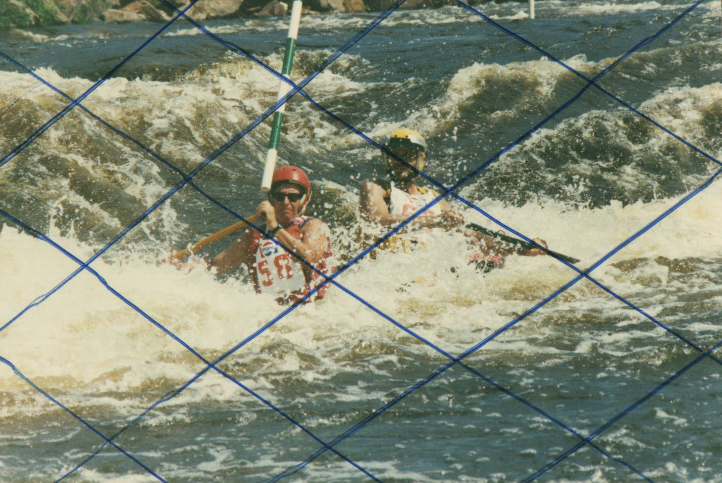 Marge and Rich running a Wausau Slalom Course.